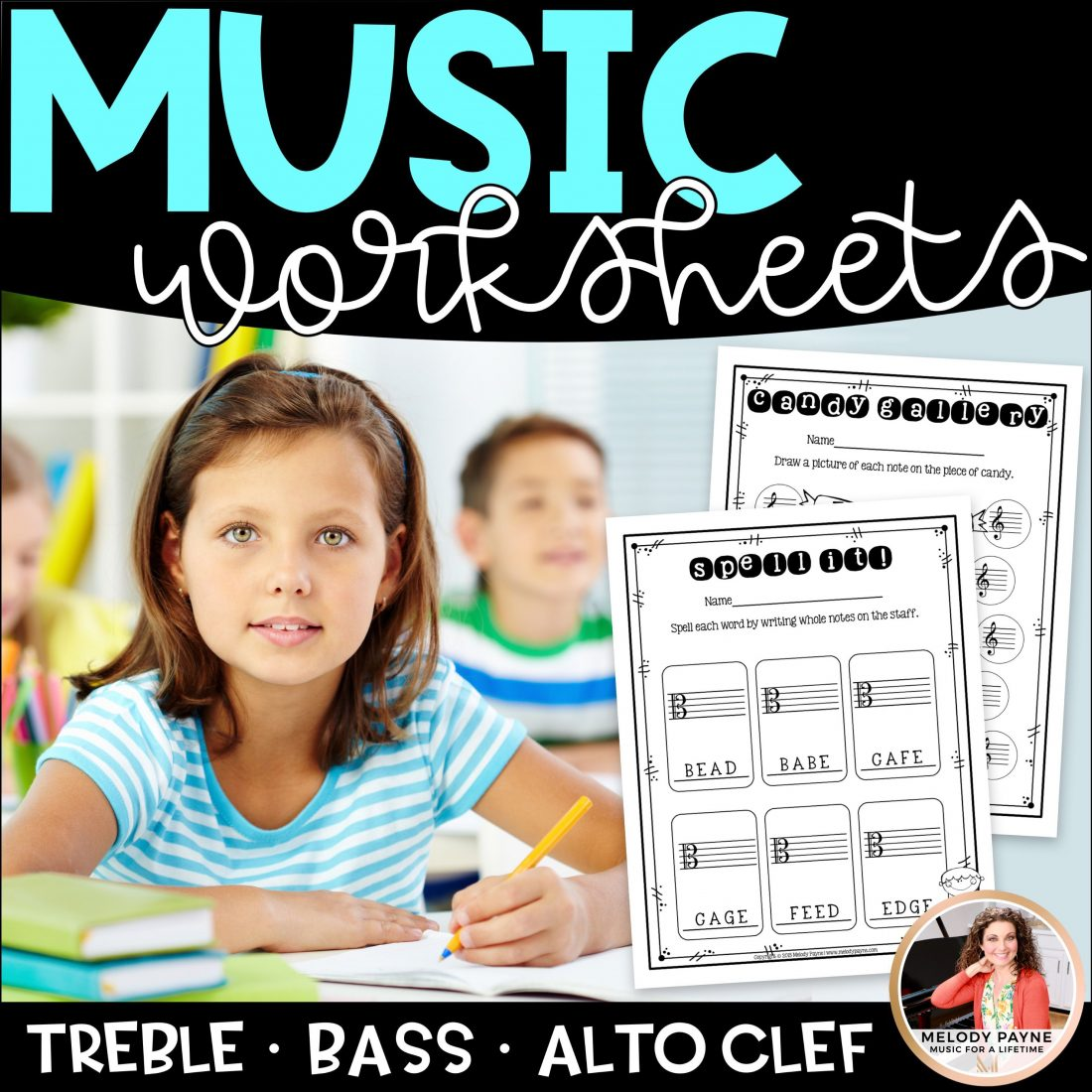 Music Worksheets Note Naming Practice On Treble Clef