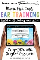 Ear Training BOOM Cards by Melody Payne