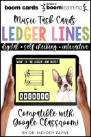 BOOM Cards: Ledger Lines by Melody Payne