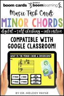 BOOM Cards: Minor Chords & Inversions by Melody Payne