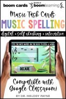 BOOM Cards: Music Spelling Words on the Grand Staff by Melody Payne