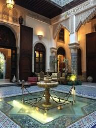 The courtyard of Riad Salam