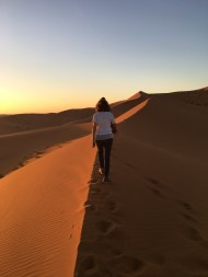 Sunset in the desert.