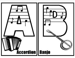 Musical Alphabet, Music Clip Art and Music Fonts
