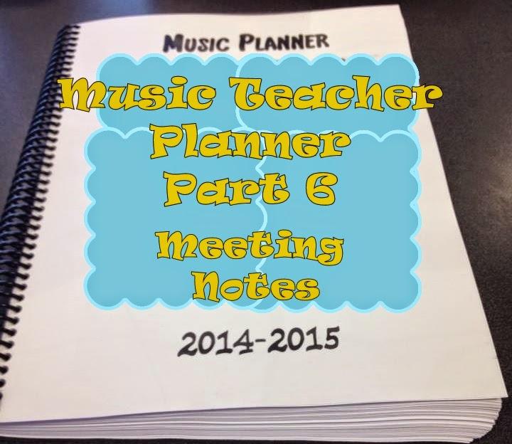 Music Teacher Planner and Management Notebook- part 6 – Meeting Notes