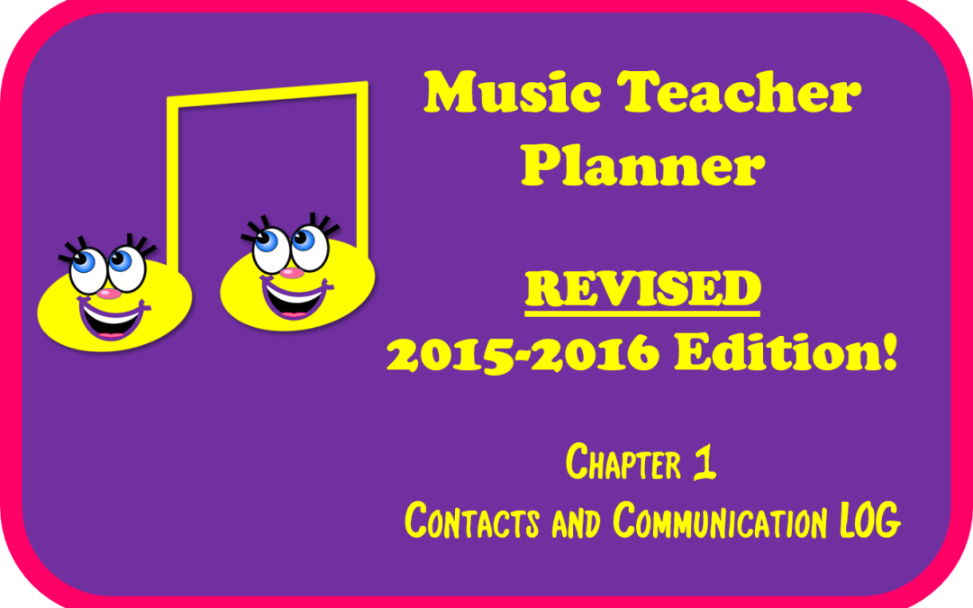 2015-2016 Music Teacher Planner – chapter 1