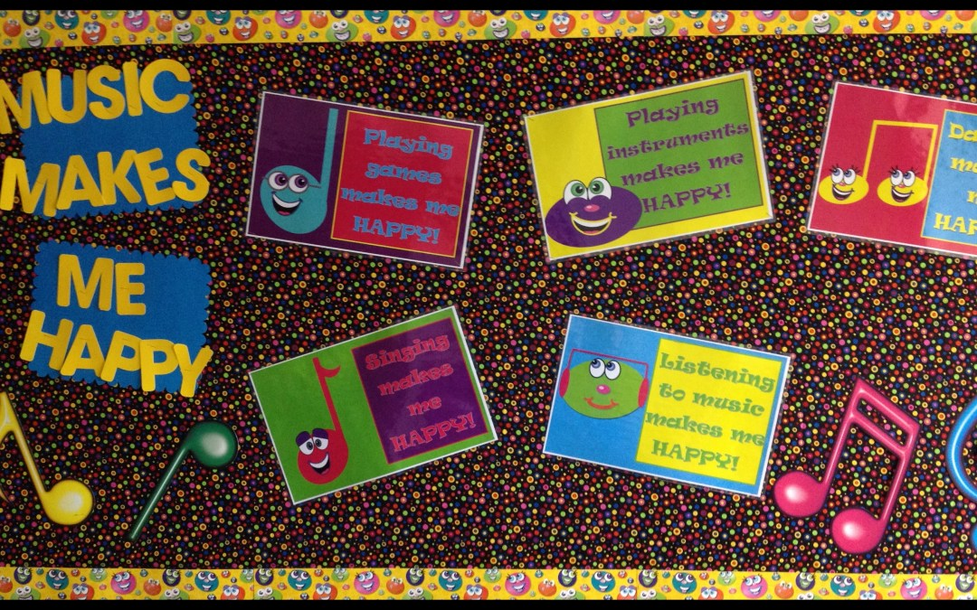 Music Makes Me Happy – FREE Downloadable Bulletin Board Idea