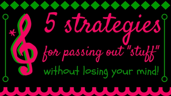 "5 strategies for passing out ""stuff"" without losing your mind"