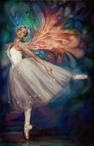 Ballerina Pastel Painting by Melody Owens