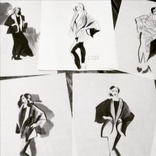 Fashion Illustration Sketches for Eileen Fisher