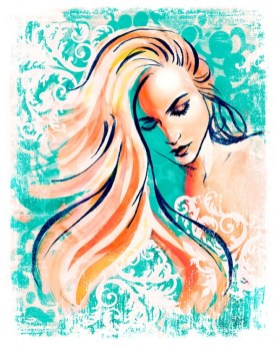 Fashion illustration high style art by Melody owens