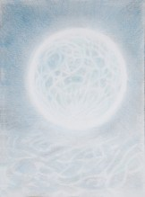 blue moon, july, sky, bubble, water, underwater, new moon, full moon, painting, art, fantasy, mysterious art