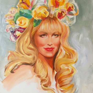 live portrait painting commission by Melody Owens
