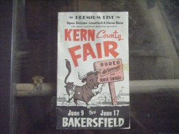 Kern County Fair Brochure from the 60's with Gov Jerry Brown's stats