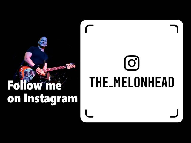 For #instapeople, you can connect with me as @the_melonhead