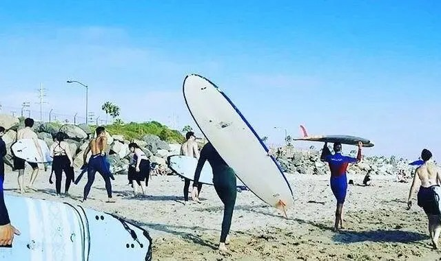 It was so great to spend a full day teaching surf lessons yesterday.