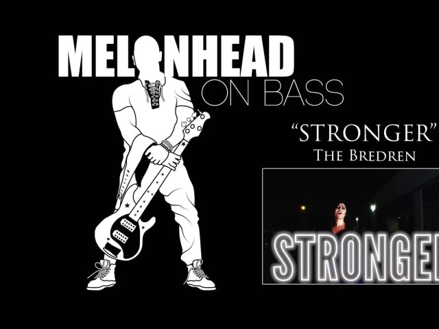 """Here's the full-length bass play-through video for the song """"Stronger (Than Before)"""" from my band, The Bredren."""