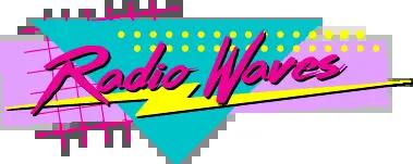 radio waves 80s logo