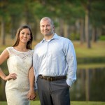 engagement photographer Woodlands Country Club golf course