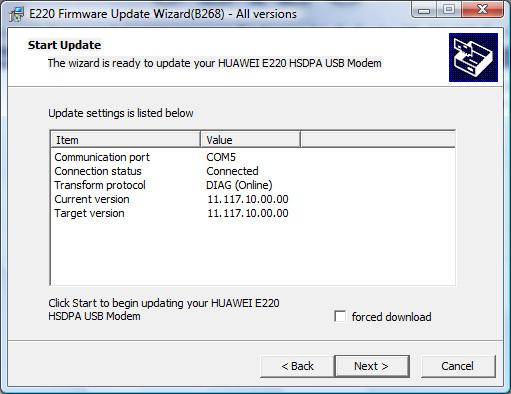 Usuwanie simlock'a z modemu Huawei E220 za darmo (2/6)