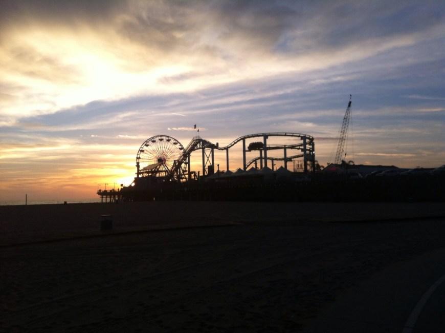 parque de atracciones en Santa Mónica pier