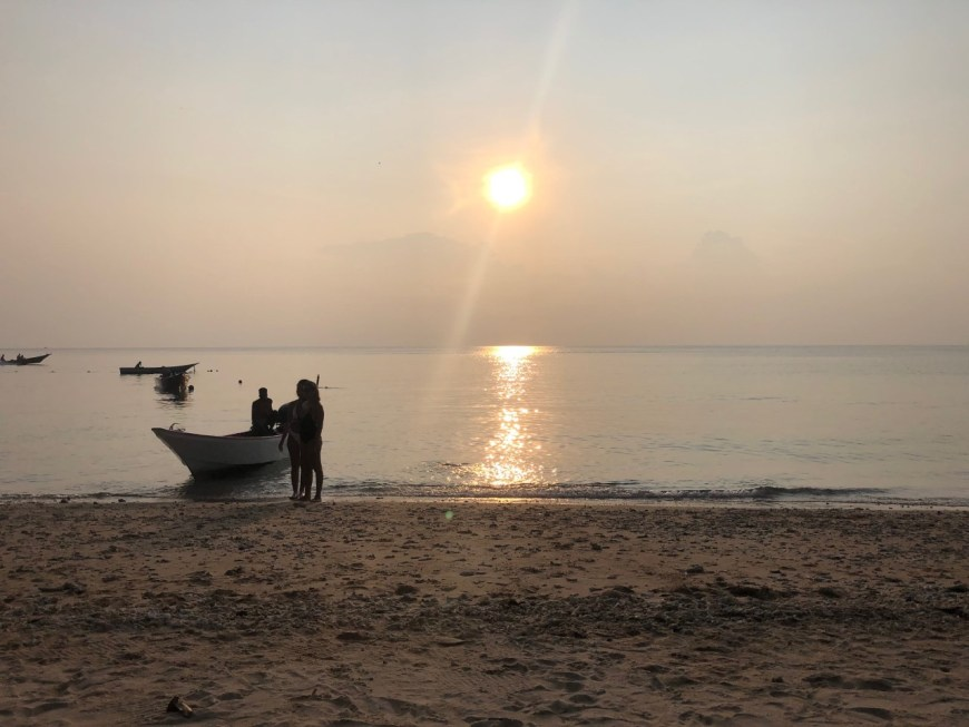 Puesta de sol en Mira Beach, en las islas Perhentian