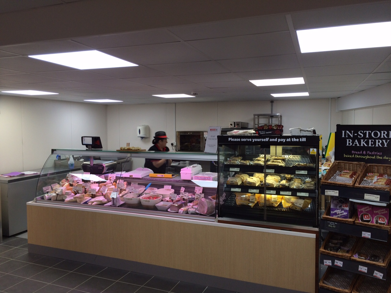 shop counter electrics installation