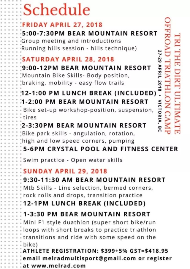 Tri The Dirt Bear Mountain Schedule
