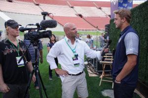 Sean Lee Gregg Champion with Jared Goff La Rams Quarterback DSC06768-web