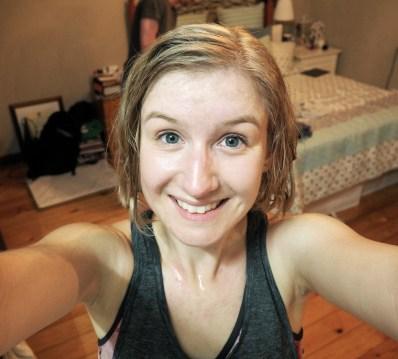 post-run new hair mel