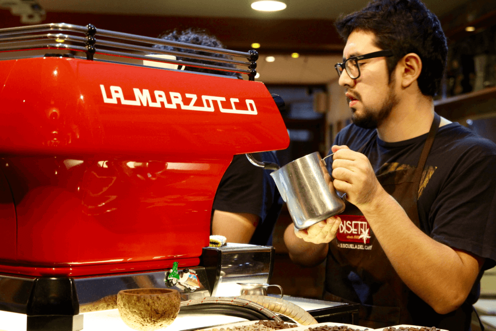 specialty coffee in peru_cafe bisetti_la marzocco