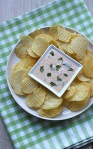 """Tuinfeest - chips met saus - zomer hapjes - mels Feestje"""""""
