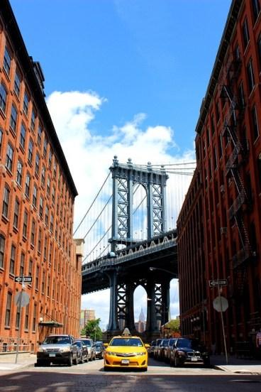 Foto uitzicht vanuit Brooklyn over de Brooklyn bridge - deze moet bij mijn Instagram rijtje fotos - mels Feestje en New York