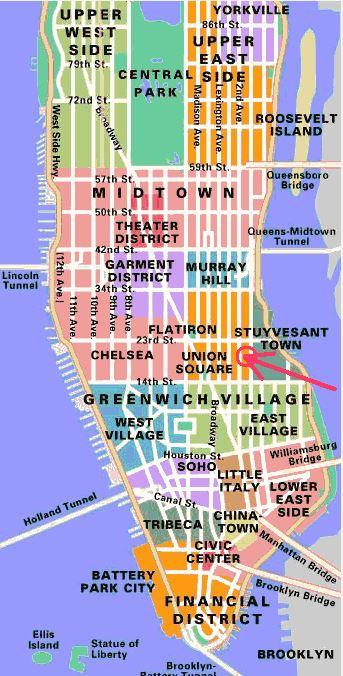Manhattan - alle verschillende wijken overzicht