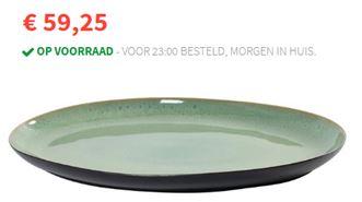 Serax Pure Ovale Serveerschaal 40 x 28 cm € 59,25.Met deze stijlvolle serveerschaal is de tafeldekking helemaal compleet. Ik ben zelf echt een groot fan. Maakt een feestje van je hapjes en je tafel aankleding. Mels Feestje