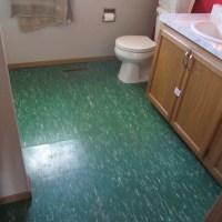 The bathroom floor--Finally!