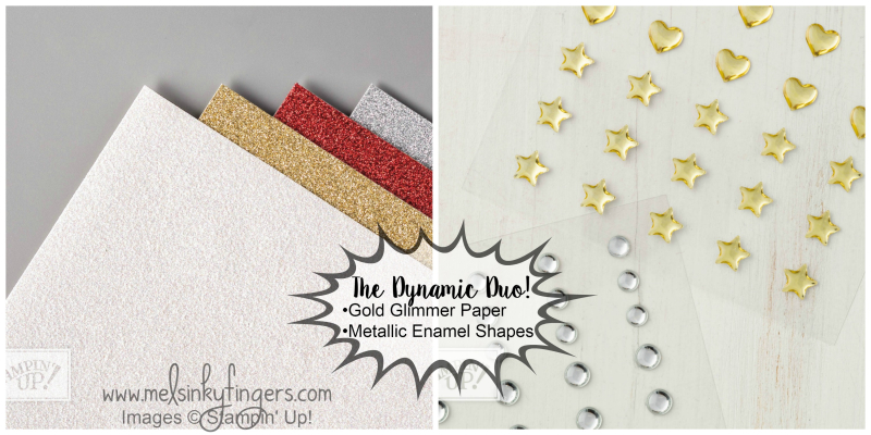 Dynamic Duo glimmer paper and metallic shapes