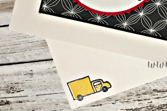 In the City stamp set has all the little details, including a moving van!