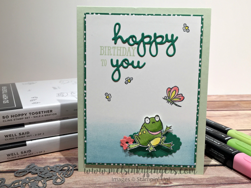 The Well Said bundle paired with the FREE So Hoppy Together stamp set.