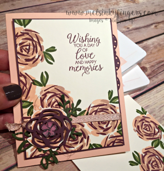 Abstract Impressions Wedding Card 1