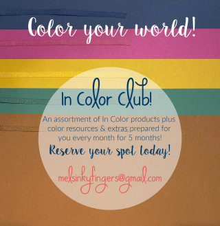 Color Your World with a 2020-2022 In Color Club with Mel's Inky Fingers!