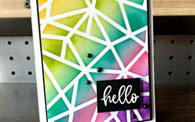 Maui Trip Achievers July 2021 Blog Hop Embossed Ombre Background