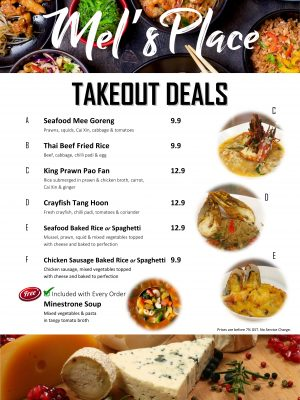 Covid 2021 Period Takeout Deals