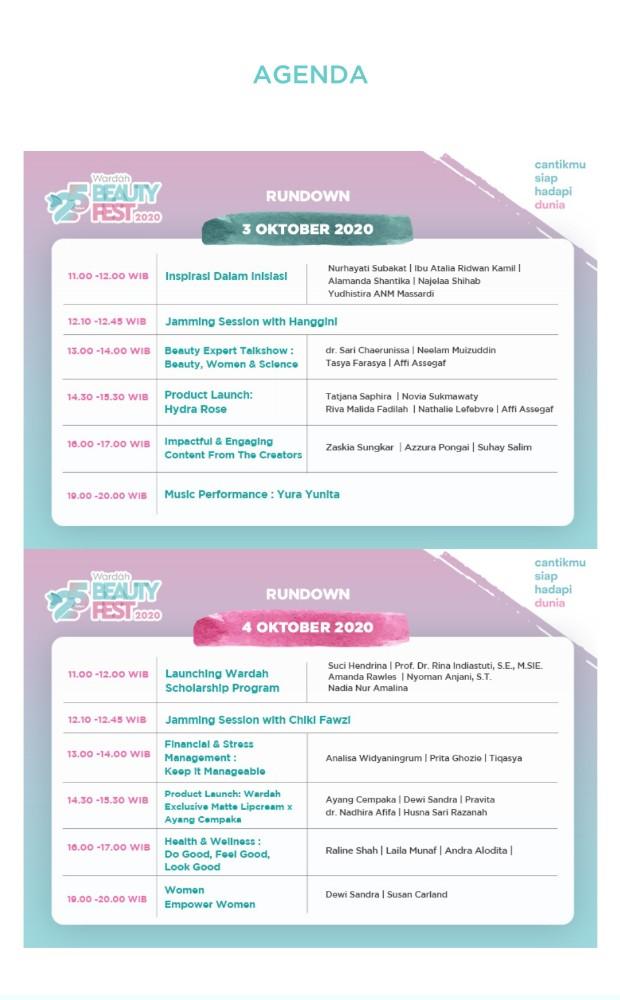 Jadwal acara 25 tahun wardah beauty festival