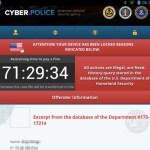 Virus de la Policia en Android.