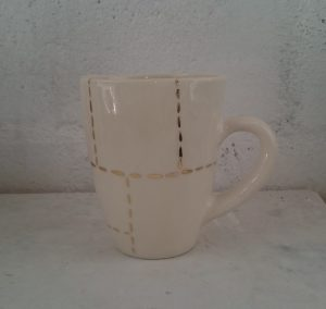 mugs with 22ct gold