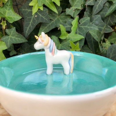 unicorn jewelry bowl