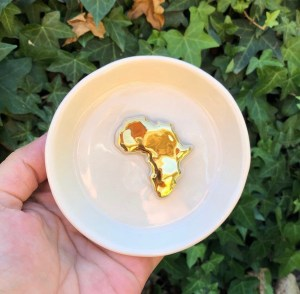 africa gold jewelry bowl