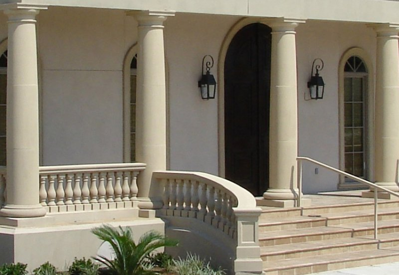 Exterior Round Columns