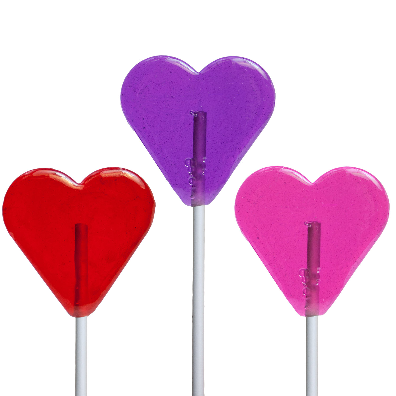 Valentine Mini Heart Lollipops By Melville Candy